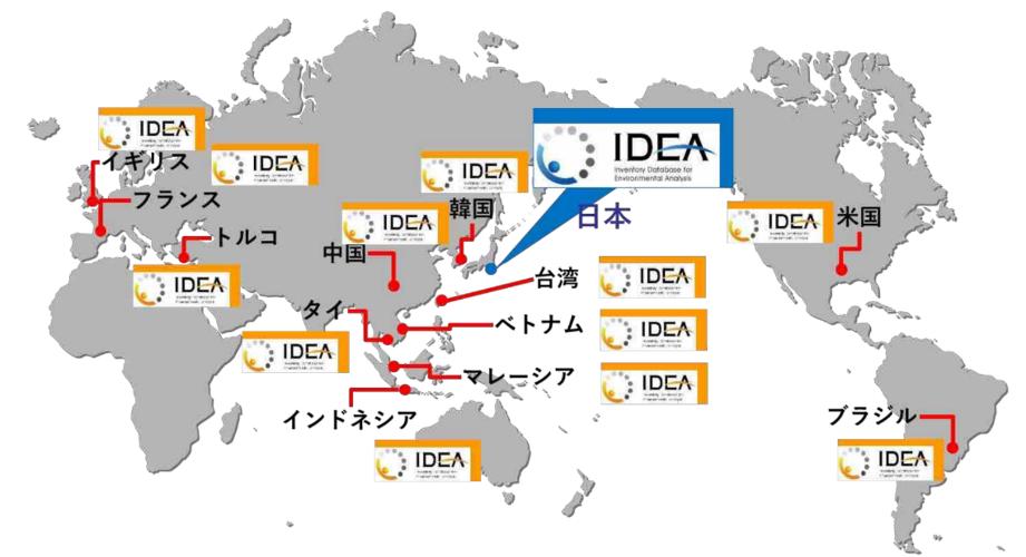 IDEA海外版の対象国
